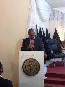 Babatunde Ajibade making speech