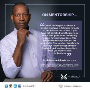 Babatunde Ajibade on mentorship