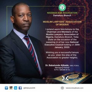 Dr Ababatunde Ajibade Mulan greetings