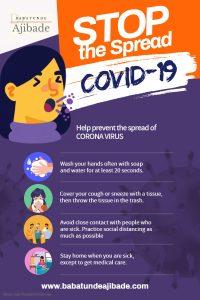 Covid-19 Coronavirus Awareness Poster Ajibade - Made with PosterMyWall