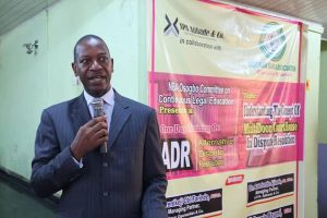 Delivering a lecture at ADR Conference at Oshogbo